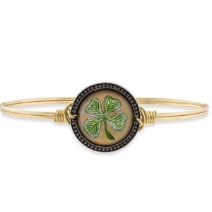 Four Leaf Clover Bangle Bracelet